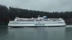 BC Ferry Queen of New Westminster Stock Footage