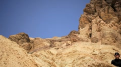 Desert Canyons Achievement of Lone Female Stock Footage