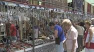 Jewelry Market in Spain Stock Footage