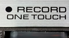 Tape counter hifi stereo audio music vintage technology Stock Footage