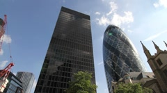 London City Gerkin Building Stock Footage