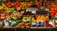 Stock Video Footage of Choice of fresh tropical fruits offered in the market  FULL HD 1080P