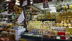 Choice of gourmet cheese offered in the market FULL HD 1080P - stock footage