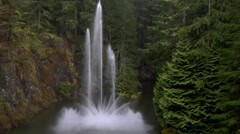 Fountain at Butchart Gardens Stock Footage