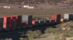 BNSF Train West of Gallup New Mexico Stock Footage