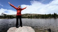 Achieving an Ambition to Hike a National Park Stock Footage