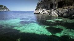 Bautiful quiet mediterranean beach, mallorca-spain Stock Footage