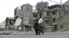 Demolished quarter in Shanghai Stock Footage