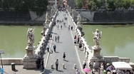 Stock Video Footage of Rome Bridge of Angels fast TL P HD 0460