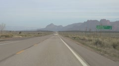 Driving on Arizona Route 89 Timelapse 2 Stock Footage