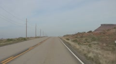 Driving Timelapse on Arizona Route 89 Stock Footage