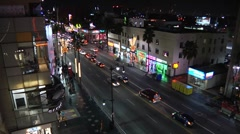 Hollywood blvd Timelapse NIGHT1 - stock footage