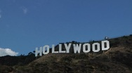 Hollywood sign4* Time lapsed with clouds passing Stock Footage