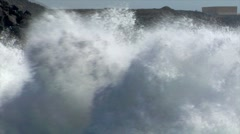 Incredible bomb burst crushing wave audio Stock Footage