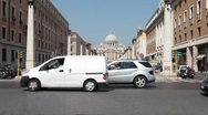 Stock Video Footage of Rome Vatican traffic P HD 0457