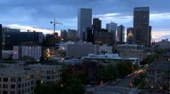 Time-lapse of Denver City Rakentaminen at Dusk Arkistovideo