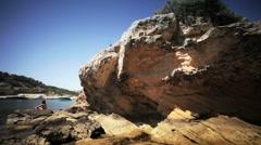 Quiet mediterranean beach Stock Footage