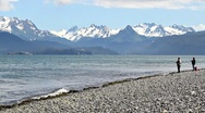 Stock Video Footage of Fishing on the beach in Alaska