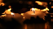 Stock Video Footage of Candles in water