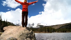 Achieving an Ambition to Hike a National Park - stock footage