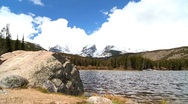 Lone Female Hiker Among the Beauty of a National Park Stock Footage