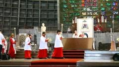 Mass at Cathedral St. Sebastian Rio de Janeiro Brazil FULL HD 1080P Stock Footage