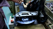 Stock Video Footage of Brake Assembly Line
