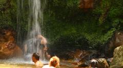 Caldeira Velha waterfall Stock Footage