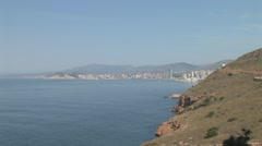 Panorama of Costa Blanca Stock Footage