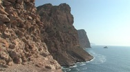 Stock Video Footage of Cliffs of Costa Blanca