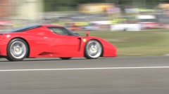 Ferrari Enzo on race track Stock Footage