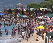 St James Beach shot 04, Cape Town GFSD Stock Footage