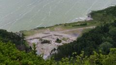 Furnas Fumarolas and crater lake Stock Footage
