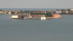 Panoramic, aerial view of Venice, Italy, Europe Stock Footage