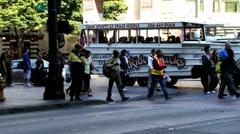 Street Crossing Stock Footage