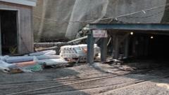 Coal MineEntrance with Employee (HD) c Stock Footage