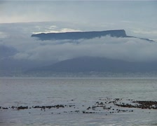 Table Mountain from Robben Island Zooms and Birds, Cape Town GFSD Stock Footage