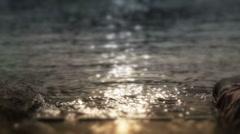 Beach sun reflections Stock Footage