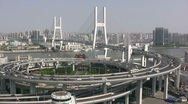 Stock Video Footage of Exceptional view of Nanpu brigde, Shanghai China
