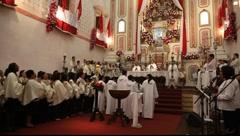 Mass of Corpus Christi in Paraty, Brazil, FULL HD 1080P - stock footage
