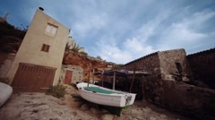 Mediterranean beach timelapse Stock Footage