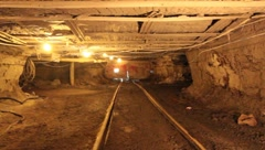 Coal Mine Underground (HD) c Stock Footage
