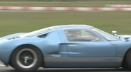 Blue Ford GT Stock Footage