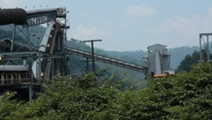 Coal Mine Above Ground View (HD) c Stock Footage
