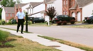 Door-to-Door Salesman 2185 Stock Footage