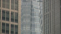 Office buildings close up Stock Footage