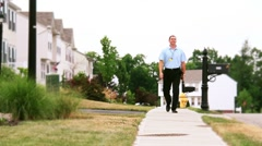 Door-to-Door Salesman 2187 - stock footage