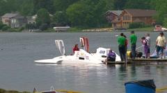 APBA inboard hydroplane races Stock Footage