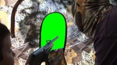 Turkey Hunting Greenscreen Stock Footage