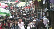 Stock Video Footage of Crowds at Chinese shopping street